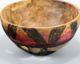 Maple Burl Art Bowl Center Piece, B3055