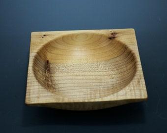 Individual Wooden Salad Bowl made from Maple Wood, Square Salad Bowl, B3100