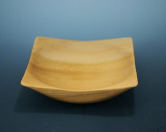 Individual Wooden Salad Bowl made from Maple Wood, Square Salad Bowl, B3147