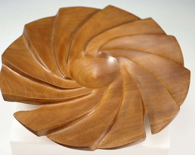 Featured listing image: A2125 Mahogany Fan Shaped Bowl