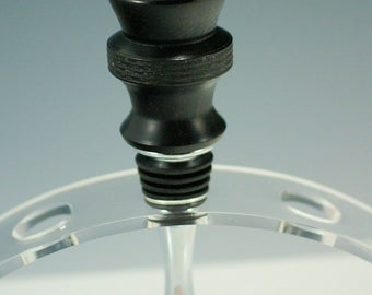 Bottle Stopper Hand Made from African Blackwood and Stainless Steel, P2759