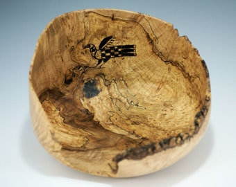 Wooden Art Bowl from a Maple Burl, Display Bowl, B3075