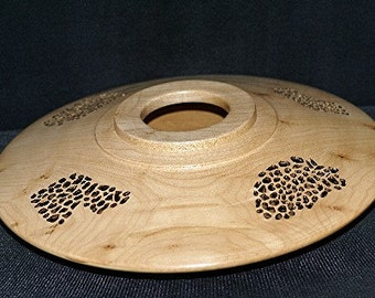 Maple Wooden Vessel Center Piece all Hand Made, A1730