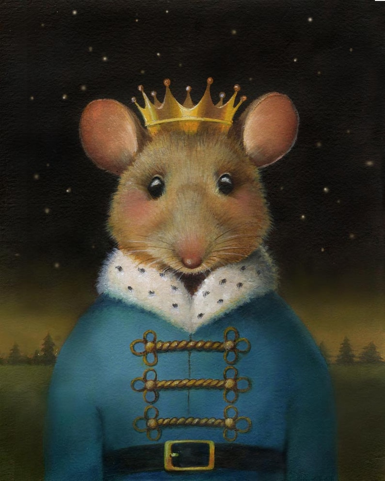 Nutcracker Mouse  Mouse Print  Mouse King  Christmas Mouse image 0