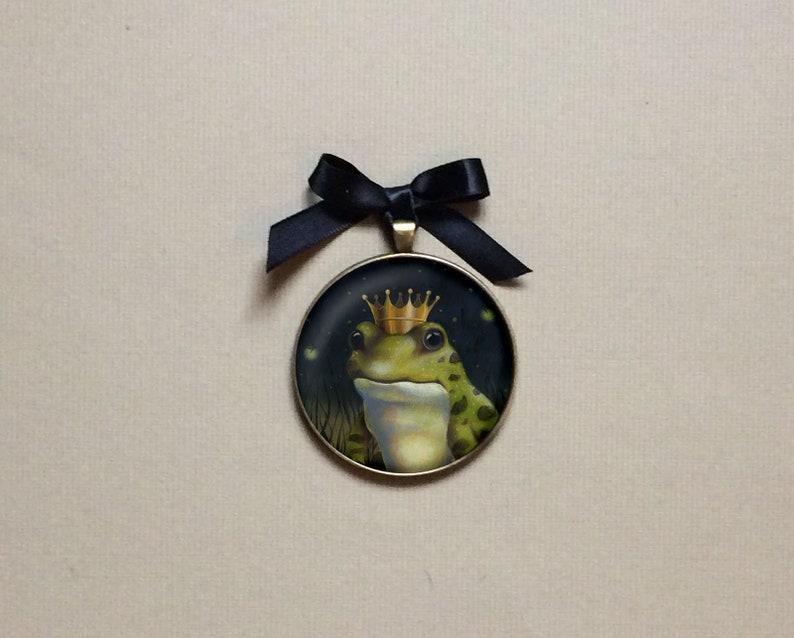 Frog Miniature Art Frog Prince  Gallery Wall Christmas image 0