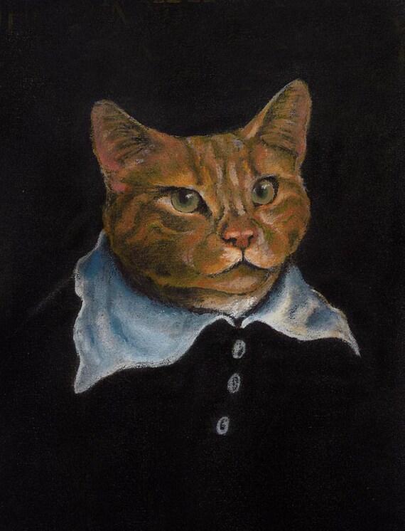 Cat Print Rennaisance Style Cat Art Cat Portrait Flemish  cf6bff26b