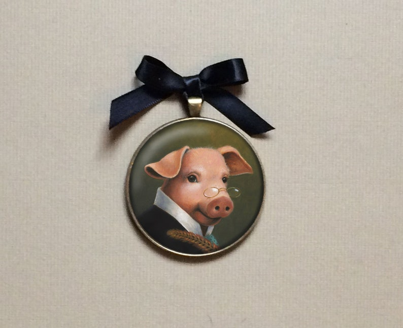 Pig Ornament Pig Portrait Miniature Pig Gallery Wall Art image 0