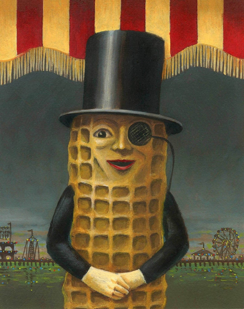 Mr. Peanut Print Vintage Mr Peanut Art Vintage Atlantic image 0