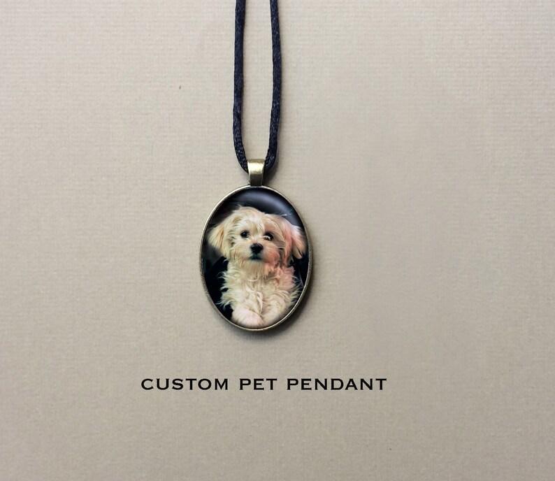 Custom Pet Portrait Pendant Personalized Dog Necklace Pet image 0