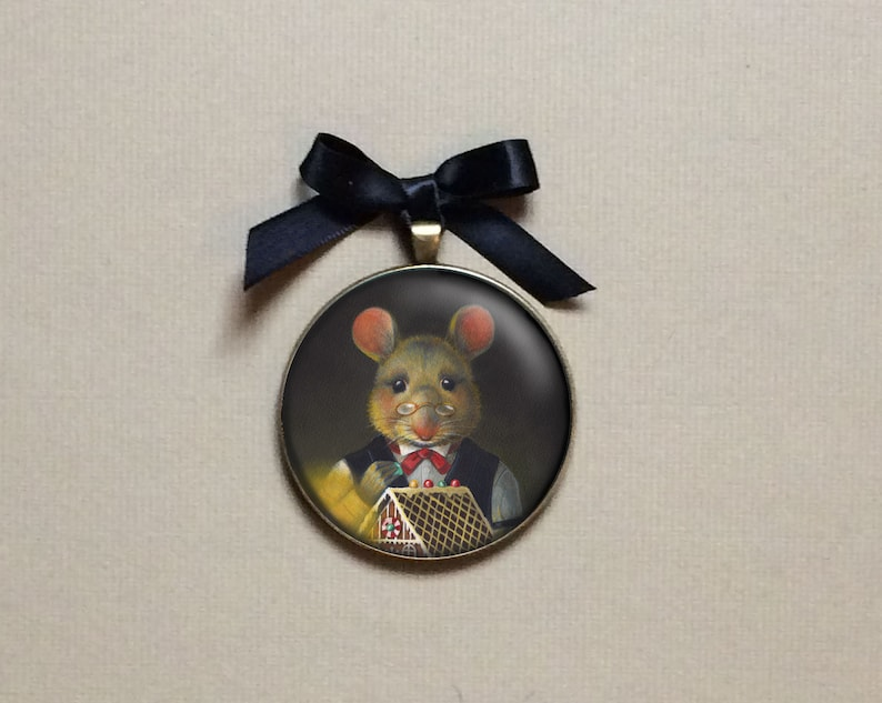 Gingerbread Mouse Ornament Christmas Mouse Ornament image 0