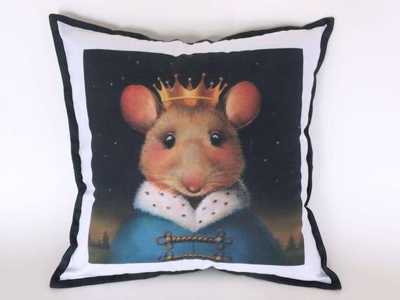 Mouse King Pillow Mouse Portrait Nutcracker Christmas Etsy