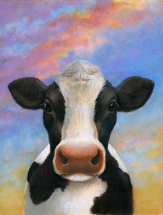A1Funny Cow Poster Art Print 60 x 90cm 180gsm Cows Farm Animal Fun Gift #8273
