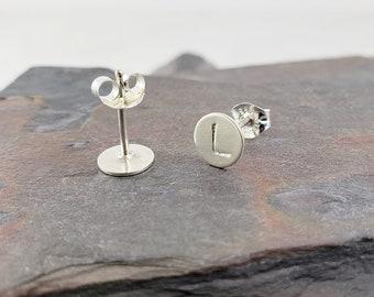 Initial Stud Earrings, Post Earrings, Tiny Earrings, Personalized Jewelry