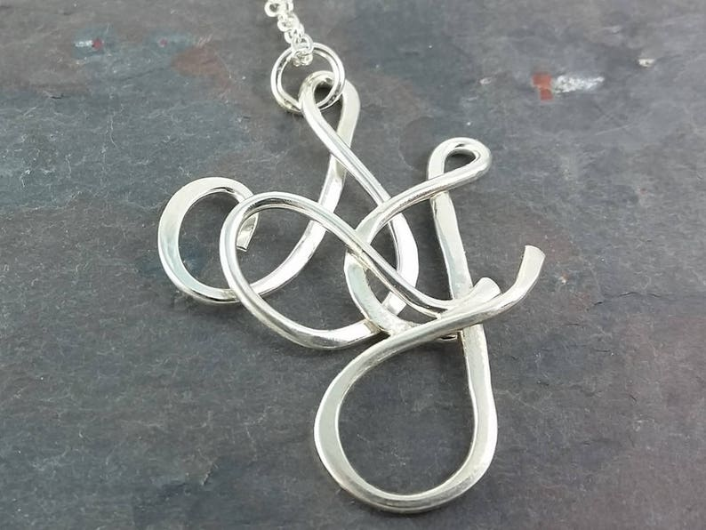 Sterling Silver Two Initial Necklace with Option of up to two 4mm Lab Created or CZ Birthstones of your choice