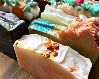 Cold Process Soap Set. Choose any 4 soaps for Thirty Dollars. DIY Gift Set. Bulk Soap. Artisanal CP Soap. Free local pickup. Made in Toronto