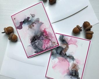 Abstract Art Greeting Card. Original Art Card. Mother's Day Card. Blank Greeting Card. OOAK art card