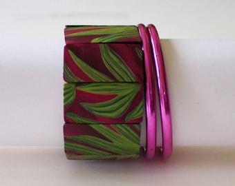 Purple and Magenta Bracelets