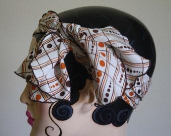 Vintage Polka Dot Head Wrap Scarf