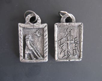 St Isidore the Farmer: Patron of Farmers and Workers; Handmade Medal/Pendant
