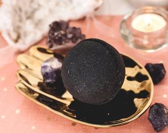 Dark Soul Bath Bomb - Black Bath Bomb - Goth Bath Bomb - Halloween Bath Bomb - Vegan - Vegan Bath Bomb - Made Fresh - Ready To Ship