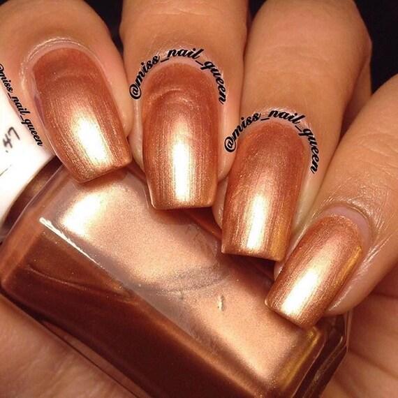 Blush Not Metallic Nail Polish Rose Gold Nail Polish Etsy