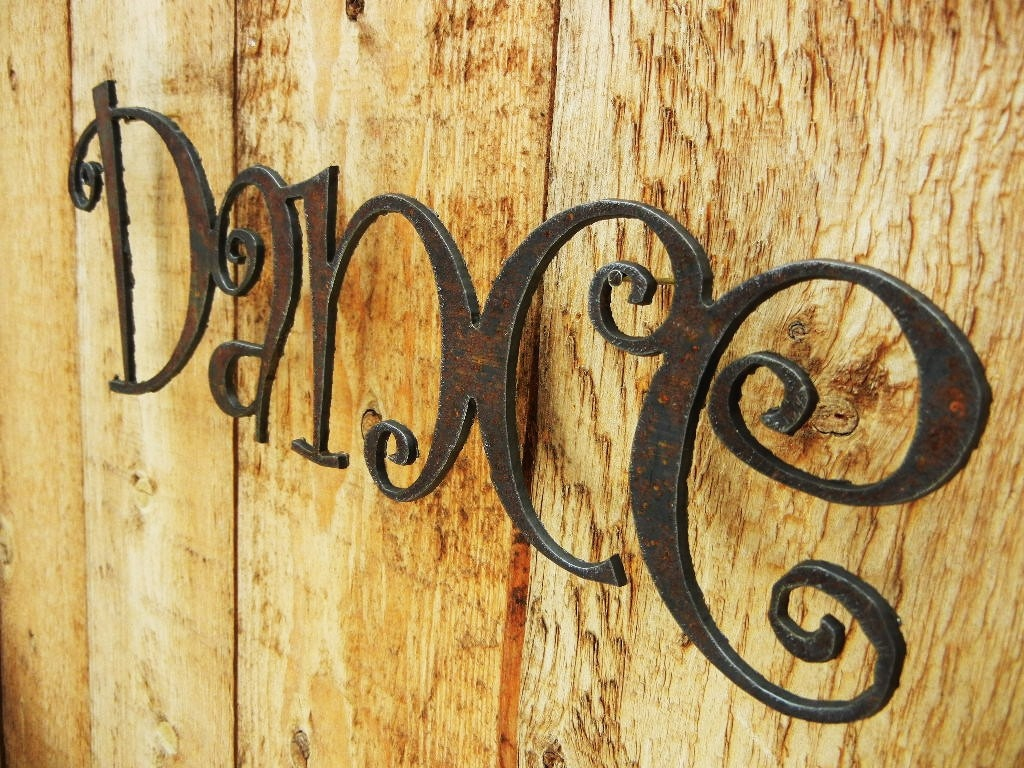 Dance Metal Word Art for Indoors or Outoors   Etsy