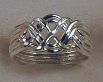 6pc. Sterling Silver Puzzle Ring