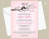Cherry Blossoms Shower Invitation - Bridal Shower Invitation - Wedding Shower Invitation - Wedding Invitation - Baby Shower Invitation