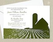 Farm Party Invitation - Country Birthday Invitation - Summer Picnic Invitation - Anniversary Invitation