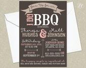 Rustic I Do BBQ Wedding Invitation - Wedding Shower Invitation - Country Wedding Invitation - Printable Wedding Invitation