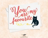 Cute Cat Card for Best Friend - You are my favourite
