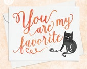 Cute Cat Card - Best Friends Card - Cat Note Card - Cat Card for Friend - Cat Thank You Card - Card for Friend - Card for Teacher
