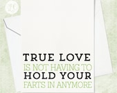 True Love Card - Engagement Card - Funny Anniversary Card - Card for Husband - Card for Wife - Card for Bride - Card for Groom