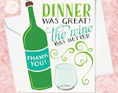 Dinner Party Thank You Card - Hostess Thank You Card - Funny Hostess Thank You Card - Thank You Card for Friends