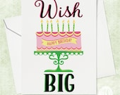 Wish Big Birthday Card - Card for Kids - Kids Birthday Card - Birthday Card for Friend - Cute Birthday Card - Birthday Card for Kids