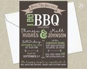 Rustic Sage Green and Grey I Do BBQ Wedding Invitation - Wedding Shower Invitation - Country Wedding Invitation Printable Wedding Invitation