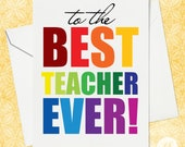 Thank you card for Teacher