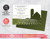 Farm Party Invitation - Country Birthday Invitation - Summer Picnic Invitation - Anniversary BBQ Invitation - BBQ Party Invitation