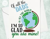 Father's Day Card - Card for Dad - Card for Father - Hand Drawn Cards - Dad Cards - Dad's Day - Funny Dad Card - Funny Father Card