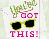 Congratulations Card - Graduation Card - Sunglasses Greeting Card - Funny Graduation Card - Funny Card