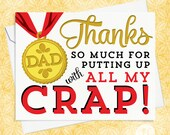 Father's Day Card - Card for Dad - Card for Father - Best Dad Father's Day Card - Dad's Day Card - Funny Dad Card - Funny Father Card