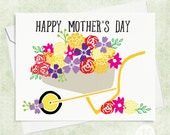 Happy Mother's Day Card - Flowers Mother's Day Card - A2 Greeting Card - Gardening Mother's Day Card - Cute Mother's Day Card
