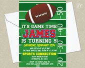 Football Birthday Party Invitation - Football Game Birthday Party Invitation - Sports Birthday Party Invitation
