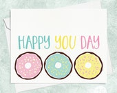 Donut Birthday Card - Best Friends Birthday Card - BFF Birthday Card - Funny Birthday Card - Friend Birthday Card