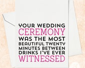 Wedding Card for Couple - Funny Wedding Card - Funny Wedding Card for Friends - Funny Wedding Card - Wedding Gift Card