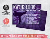 Girls Karate Birthday Invitation - Karate Invitation - Martial Arts Invitation - Kids Invitations - Printable Invitations - Corjl Template
