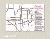 CUSTOMIZED PRINTABLE Customized Wedding / Event Map in Color - Customized Wedding Maps by Little Celebrations