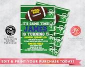 Football Birthday Party Invitation - Football Game Birthday Invitation - Sports Birthday Party Invitation - Printable Football Invitation