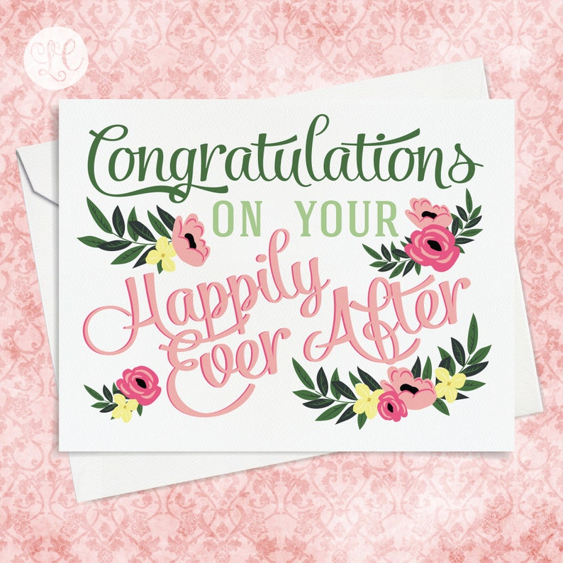 Congratulations Wedding Card  Wedding Card  Engagement Card image 0