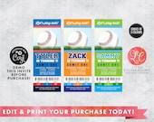 Baseball Ticket Birthday Invitations - Editable Baseball Ticket Party Invitation - Baseball Ticket - Print your own Baseball Tickets